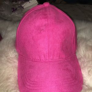 Pink Textured Dad Hat